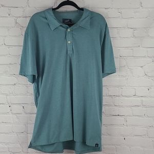 Grayers Bayshore Polo Teal Green Shirt Size 3XL